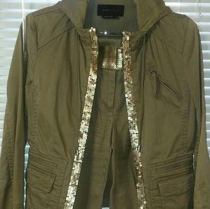 2 piece Khaki sequins pants suit by BCBG